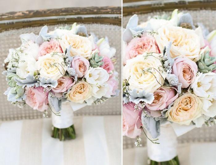 Пионовые розы букет свадебный
